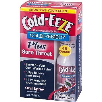 Amazon Com Cold Eeze Oral Spray Cold Remedy Plus Sore Throat