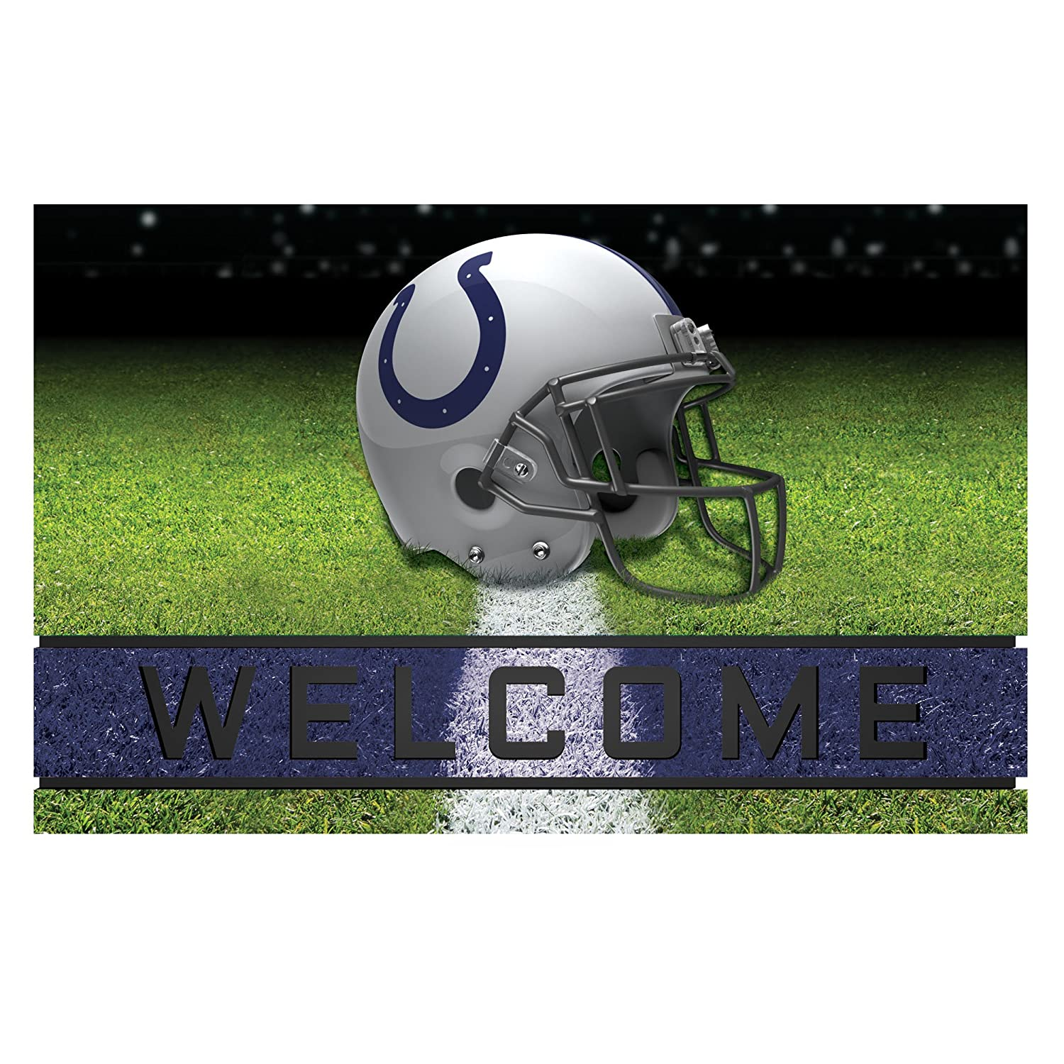 FANMATS 19946 Team Color 18 x 30 Crumb Rubber Indianapolis Colts Door Mat