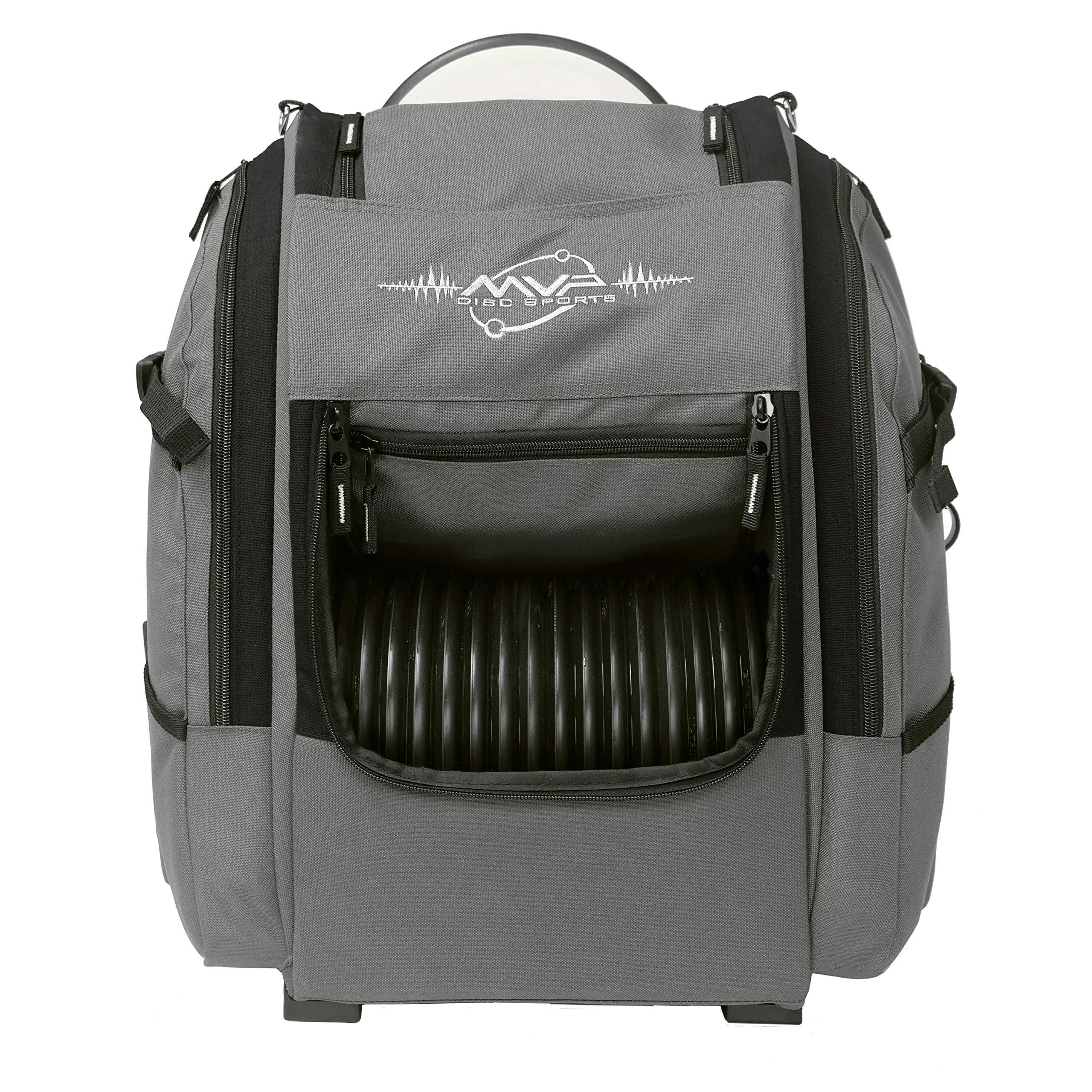 MVP Disc Sports Voyager Backpack Disc Golf Bag (Version 2) Gray/Black by MVP Disc Sports