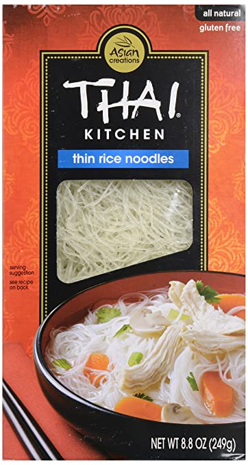 amazon com thai kitchen thin rice noodles 8 8 oz grocery rh amazon com thai kitchen rice noodles calories thai kitchen thin rice noodles recipes