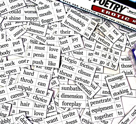 Remarkable, very erotic magnetic poetry something