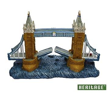 Heritage London - Adorno de puente de torre para acuario, pecera, decoración pintada a