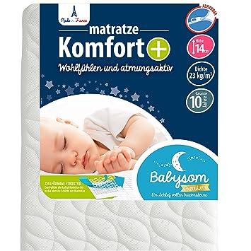 Luftdurchl/ässig Spannbetttuch Baby Matratzenschoner /«/2 in 1//» Babysom 60x120 cm wasserdichte  Matratzenauflage 100/% Baumwolle