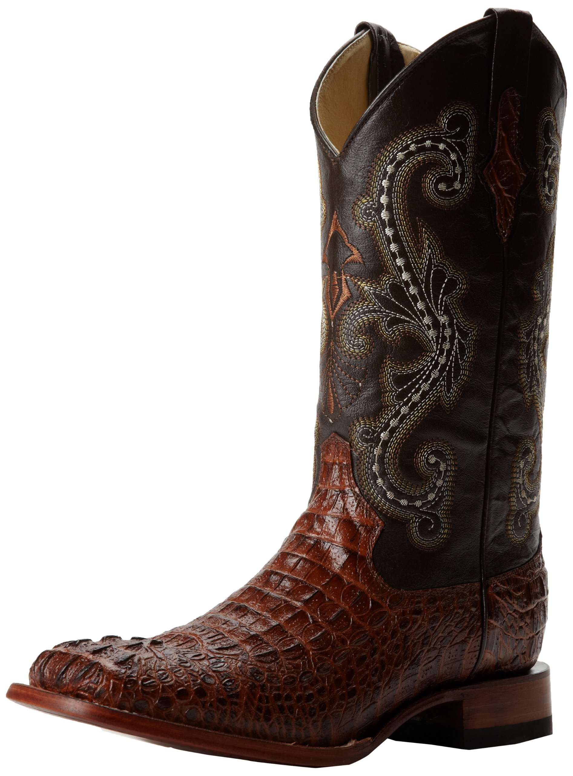 Ferrini Men's Print Crocodile S-Toe Western Boot,Sport Rust,9 D US