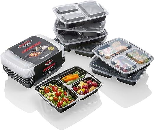10 pack] Envases para Comida Preparada – La MEJOR Solución para ...