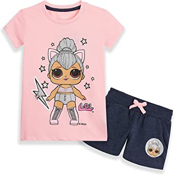Lol Surprise Dolls Pigiama corto per bambini con pantaloncini e maglietta