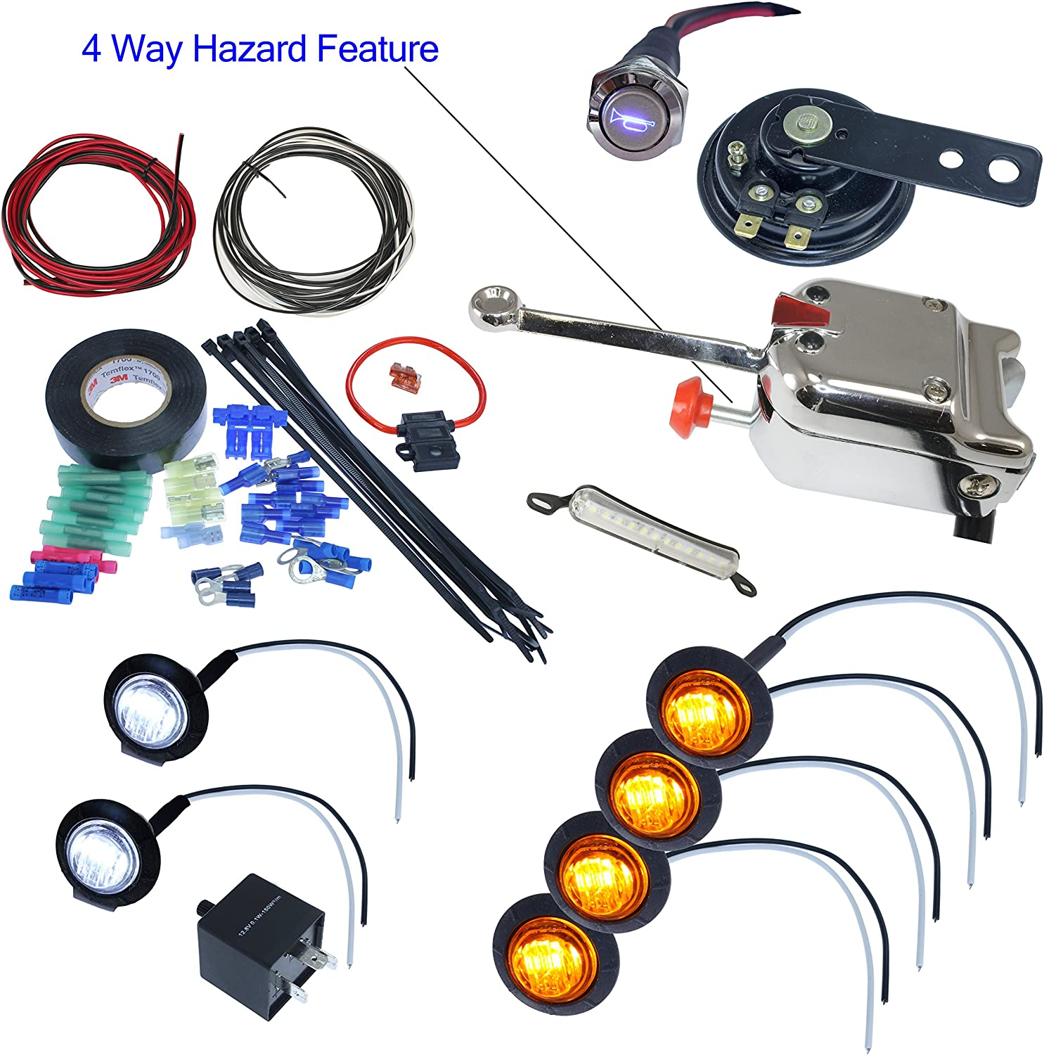 Heavy Duty Universal Turn Signal Directional Switch Kit Manual Guide