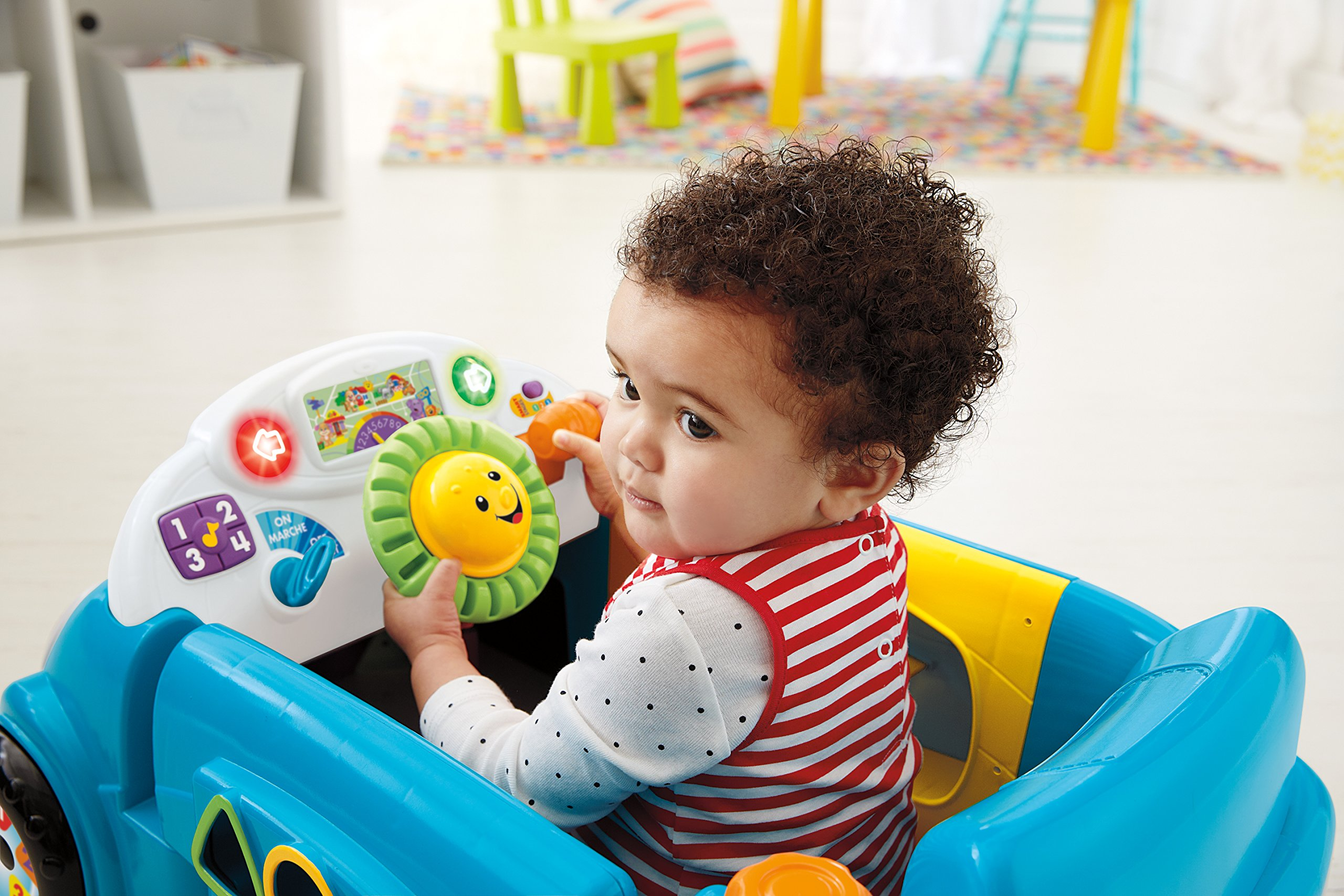 Fisher-Price Laugh & Learn Smart Stages Crawl Around Car, Blue by Fisher-Price (Image #5)