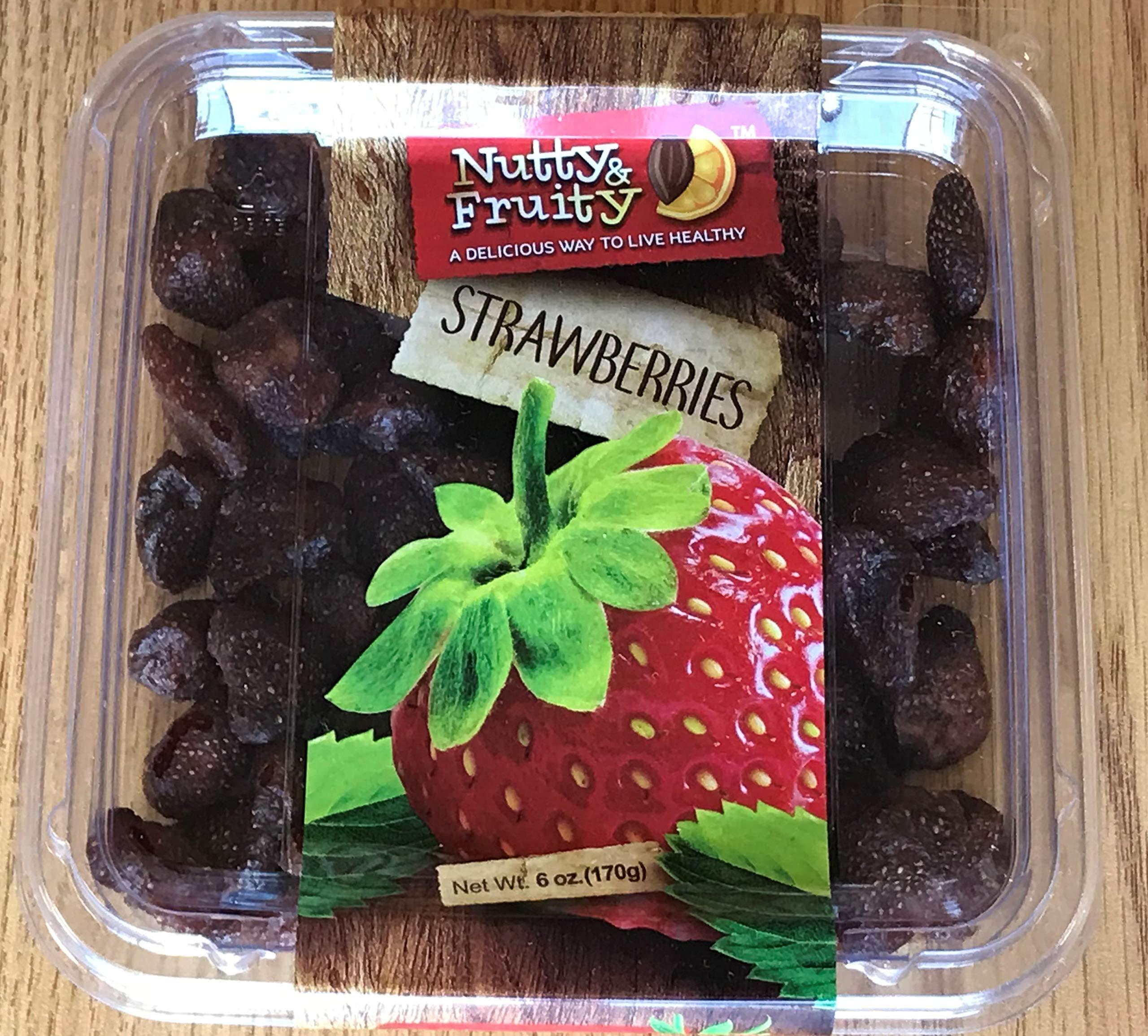 Nutty & Fruity Dried Strawberries 6 oz, 170 g