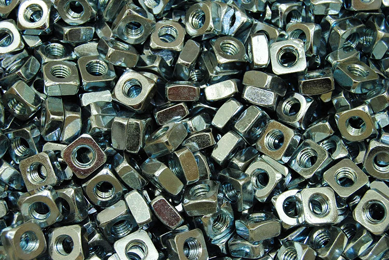 Coarse Thread Zinc Plated 5//16-18 Square Nut 350