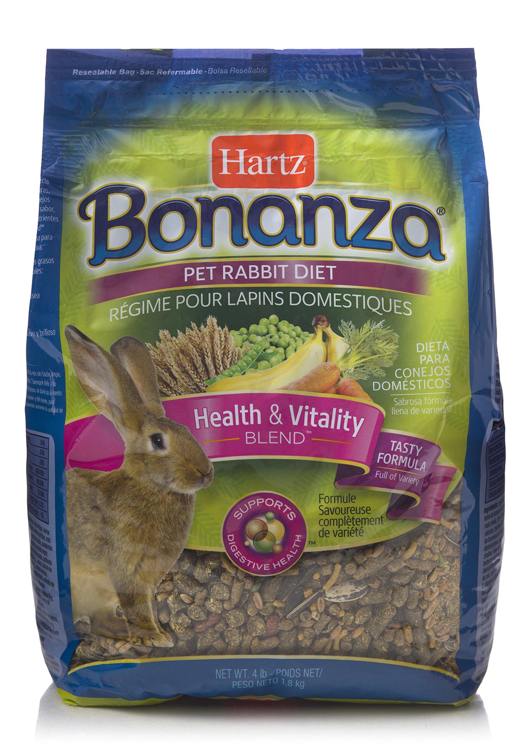 HARTZ Bonanza Gourmet Rabbit Small Animal Food - 4lb
