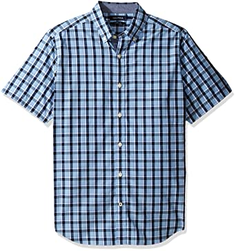 e2ffee39 Nautica Men's Short Sleeve Large Plaid Button Down Shirt at Amazon Men's  Clothing store: