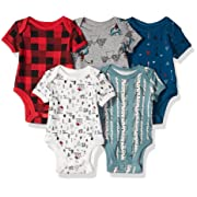 Rosie Pope Boys Baby 5 Pack Bodysuits, Mountain Theme, 0-3 Months