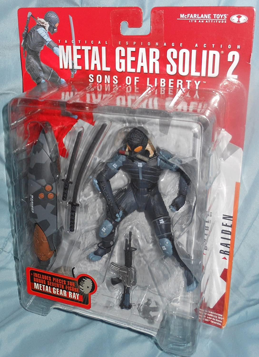 Metal Gear Solid 2 Sons of Liberty Raiden Action Figure