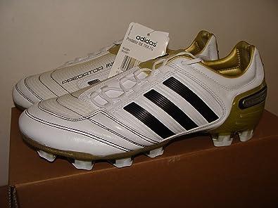 reputable site a7e5a c8bb7 Adidas Predator RX TRX FG Rugby Boots Size 10.5 White Black  Gold