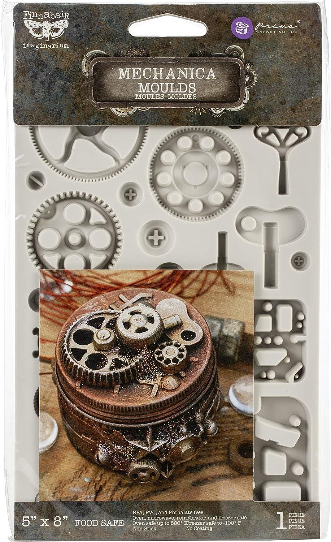 "Prima Marketing Finnabair Decor Moulds 5""X8""-Mechanica"