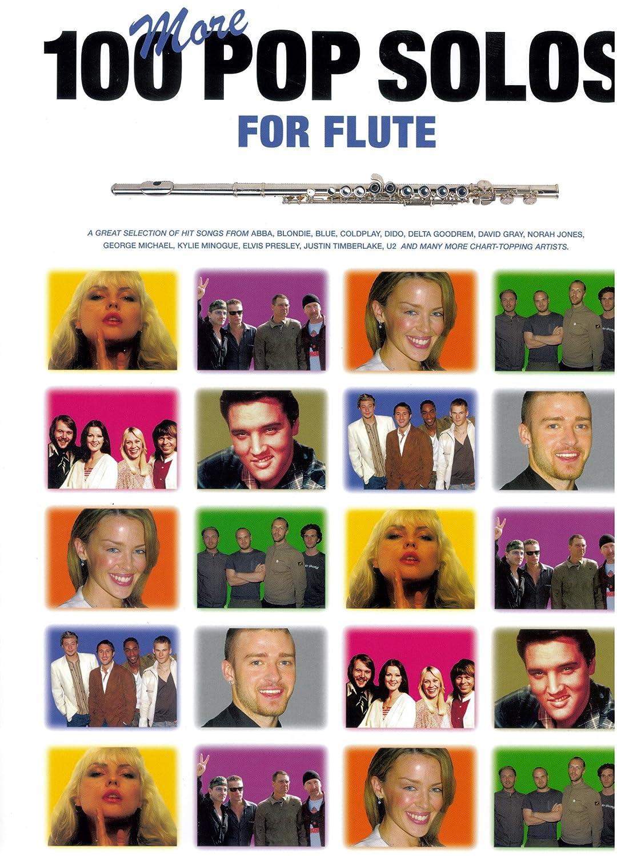 100 More Pop Solos for Flute - Flöte Noten [Musiknoten] 100 Popsongs speziell arrangiert von Jack Long für Flöte mit den kompletten Akkordsymbolen MusicSales AM979792