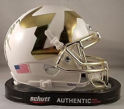 Quinton Flowers Autographed Signed Mini Helmet USF South Florida Bulls JSA 6a3cf69d6