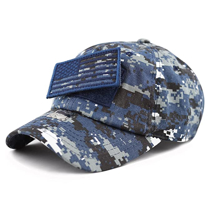 THE HAT DEPOT Low Profile Tactical Operator with USA Flag Patch Buckle  Cotton Cap (Blue Digi Camo)  Amazon.ca  Clothing   Accessories d5d4475e8173