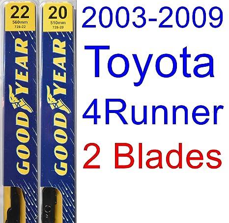 Wiper Blades Size >> 2003 2009 Toyota 4runner Replacement Wiper Blade Set Kit Set Of 2 Blades Goodyear Wiper Blades Premium 2004 2005 2006 2007 2008