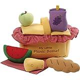 GUND Baby My Little Picnic Basket Playset Stuffed Plush, 7 pieces