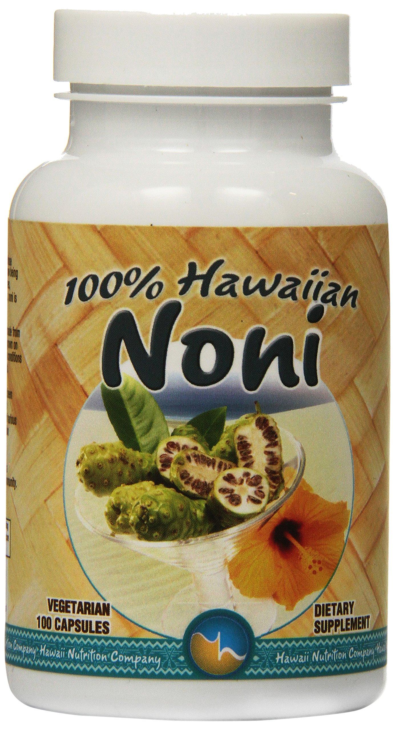 Hawaii Nutrition Company Hawaiian Noni Capsules, 100 Count