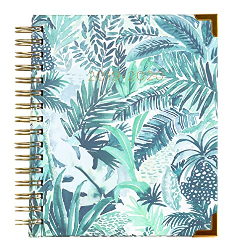 2019-2020 Eccolo Spiral Agenda Planner, Ferns & Leaves, Hardcover, Weekly & Monthly Views, 18 Months, Sticker Sheets, Full Color Graphics and Quotes. ...