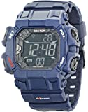 Sector Men's Digital Watch with LCD Dial Digital Display and Green PU Strap R3251172922
