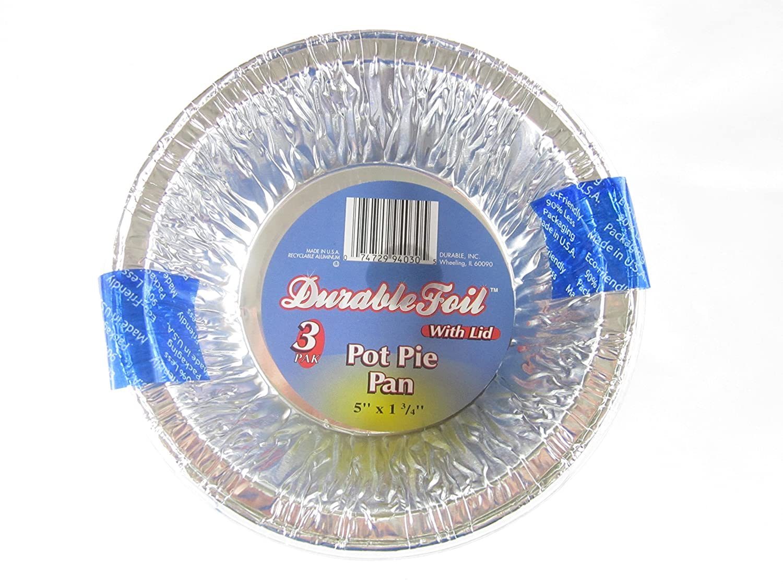 Amazon.com 36 Disposable Aluminum Pot Pie Pans with Lids Kitchen \u0026 Dining  sc 1 st  Amazon.com & Amazon.com: 36 Disposable Aluminum Pot Pie Pans with Lids: Kitchen ...