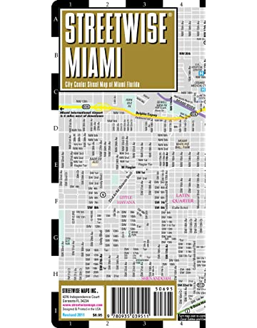 Streetwise Miami Map - Laminated City Center Street Map of Miami, Florida - Folding pocket