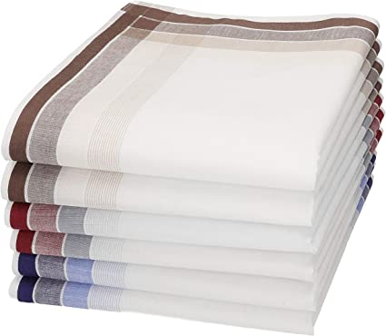 Betz Set de 2x3 pañuelos para hombres 100% algodon en caja regalo ...