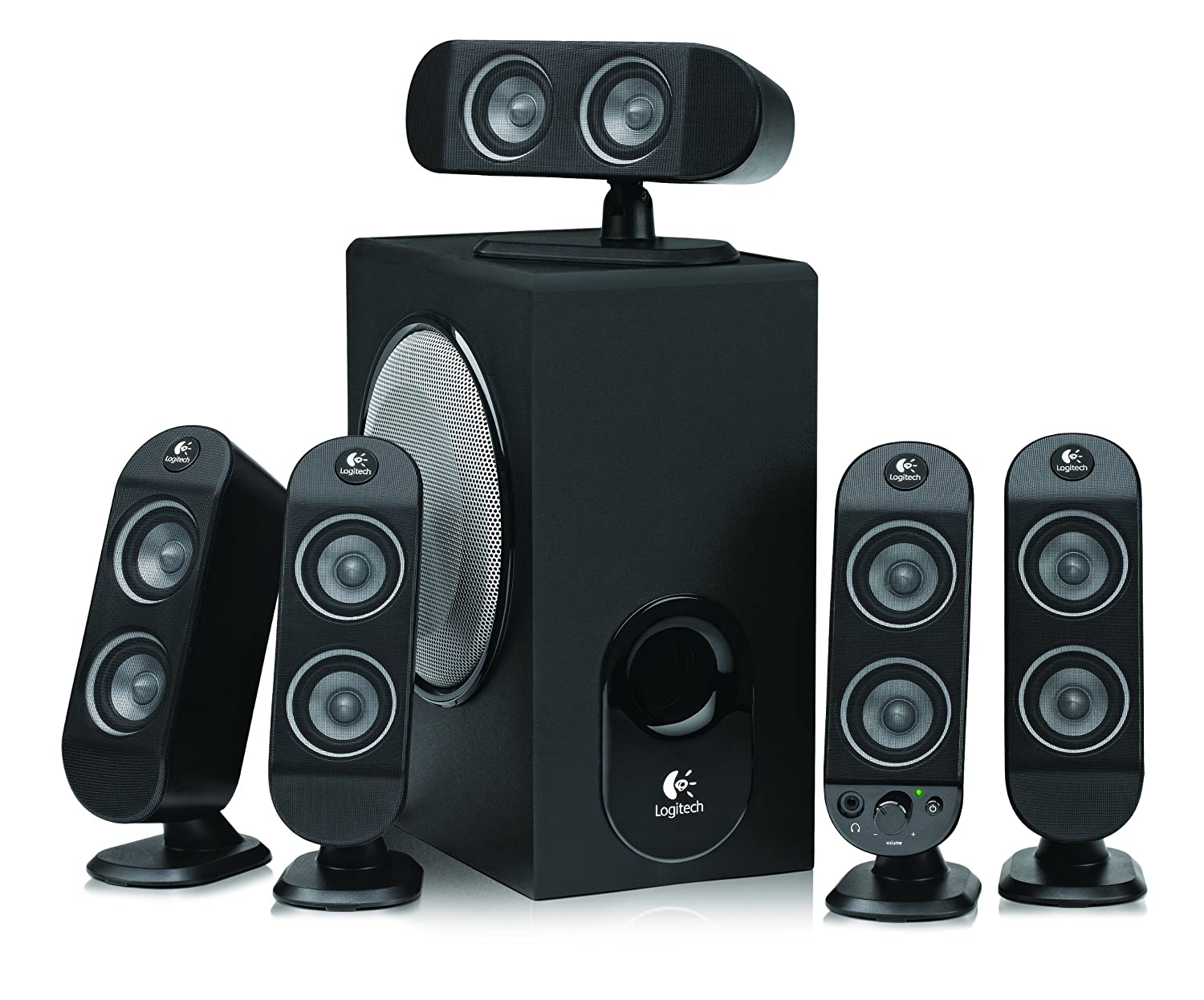 Eueasy X-530 PC Multimedia Home Theatre Speaker System: Amazon.co.uk:  Computers & Accessories