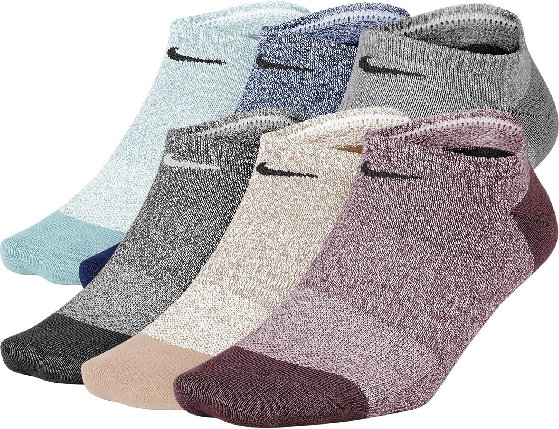 Choose SZ//Color 6 Pair NIKE Women/'s Everyday Lightweight No-Show Socks