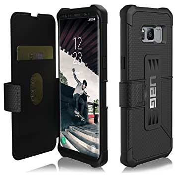 huge selection of e739e 39897 UAG Samsung Galaxy S8 [5.8-inch screen] Metropolis Feather-Light Rugged  [BLACK] Military Drop Tested Phone Case