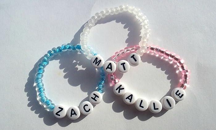Amazon Com Baby Name Bracelet Child Name Bracelet Name Bracelet