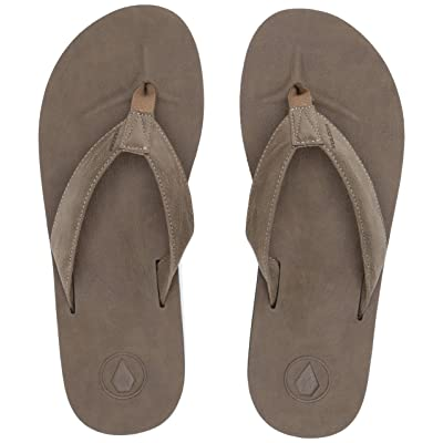 Volcom Men's Fathom Synthetic Leather Sandal FLIP Flop: Shoes