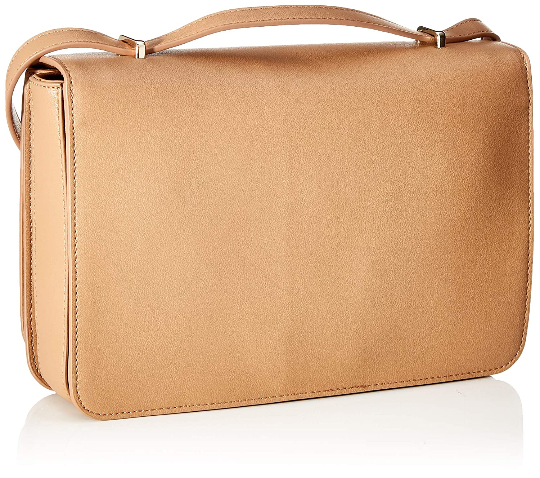 Love Moschino dam Borsa naturlig korn PU crossbody väska Beige (Cammello)