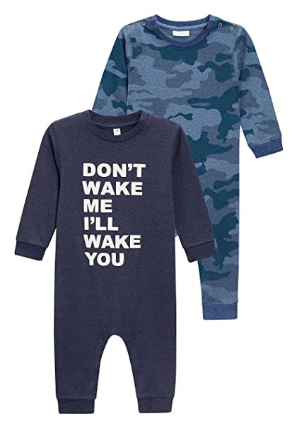 next Niños Pack De Dos Pijamas Tipo Pelele con Eslogan En Camuflaje (9 Meses -
