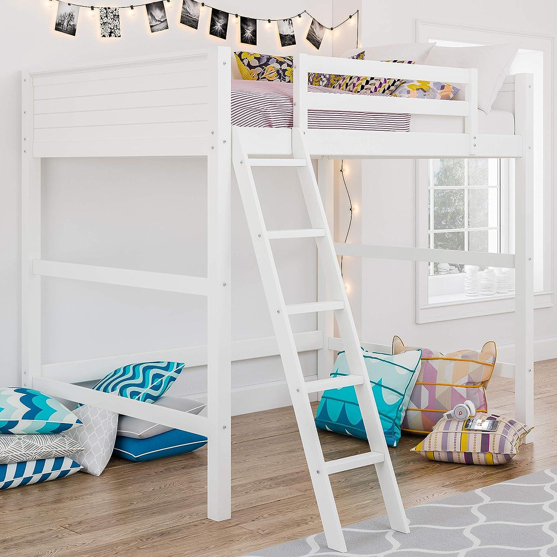 Amazon Com Dorel Living Denver Loft Bed Full White Kitchen