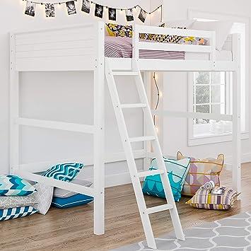 Amazon Com Dorel Living Denver Full Size Loft White Bed Furniture Decor
