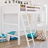 Dorel Living Denver Full Size Loft, White bed