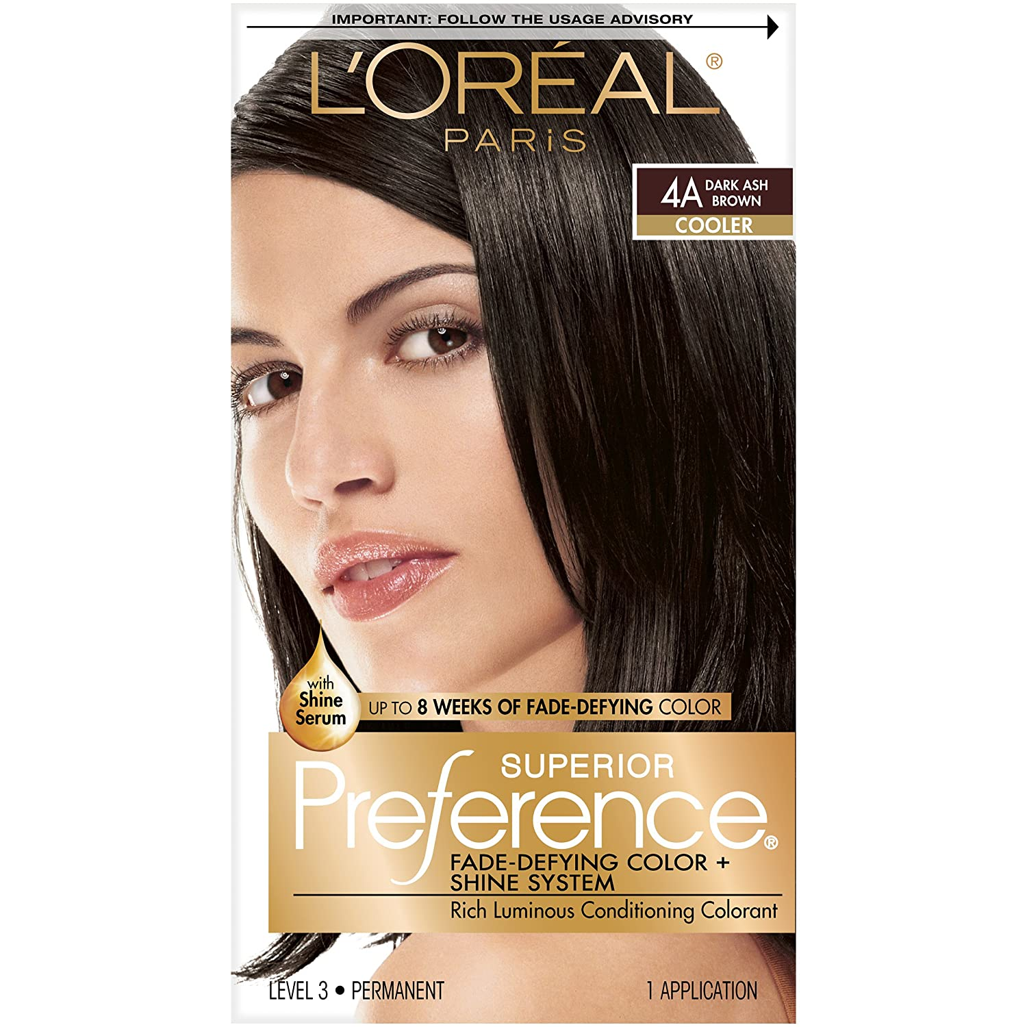 Loreal Paris Superior Preference Color Care System Dark Ash Brown