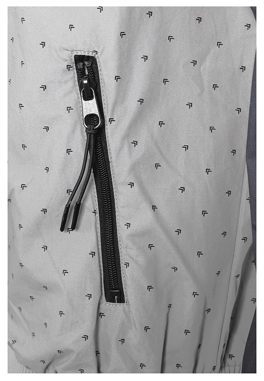 Sublevel Farbeblock Herrenjacke   Leichte Übergangsjacke mit Kapuze & & & Allover Print B079T67DDG Jacken Internationaler großer Name 45d0a1