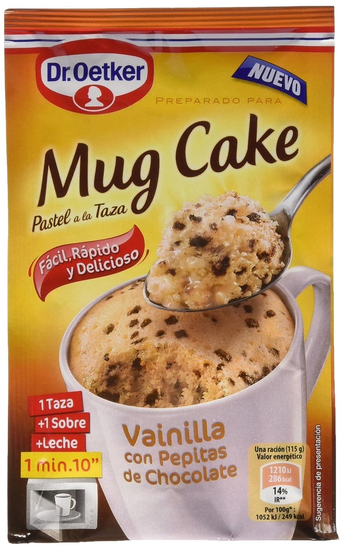 Dr. Oetker Mug Cake Vainilla con Pepitas de Chocolate - 65 g: Amazon.es: Amazon Pantry