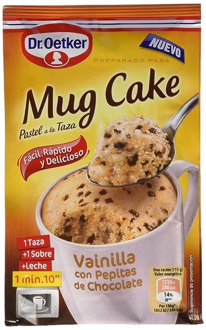 Dr. Oetker Mug Cake Vainilla con Pepitas de Chocolate - 65 g
