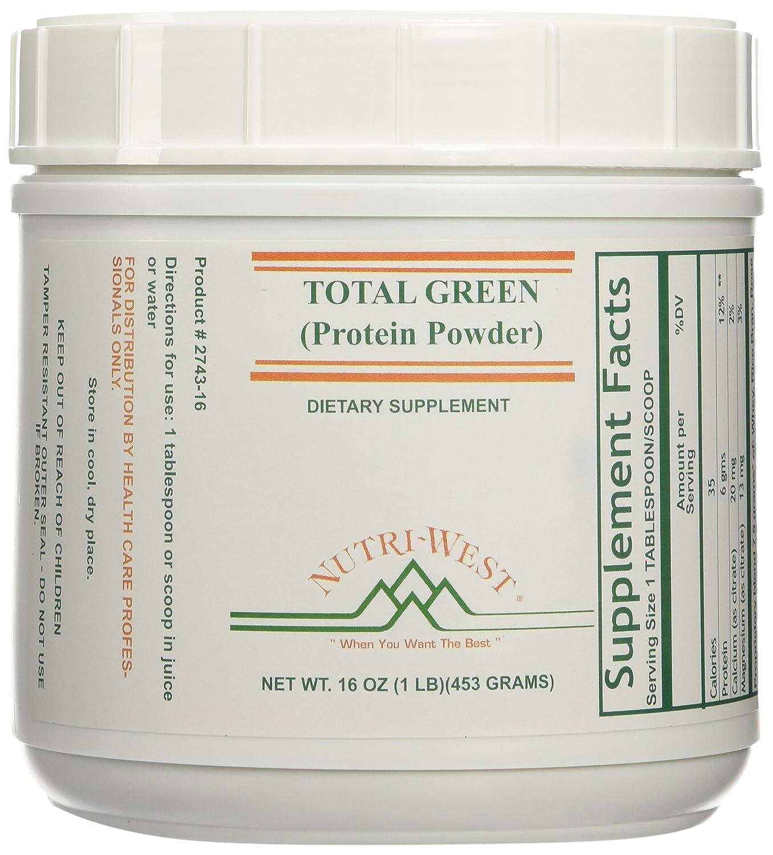 Nutri-West - Total Green Protein Powder - 16oz