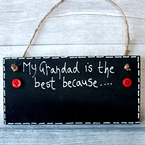 MadeAt94 Gift For Grandad Birthday Father's Day Gift SignMy Grandparents are the Best