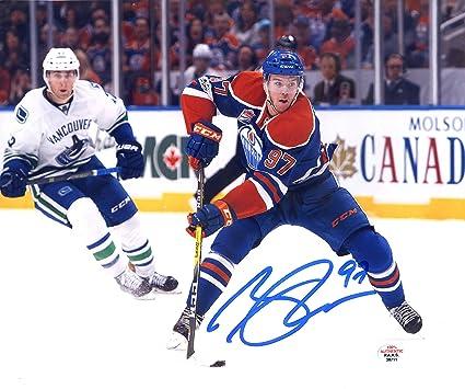 Connor McDavid Wayne Gretzky Edmonton Oilers Signed Autograph Reprint