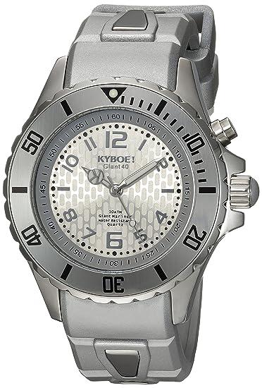 KYBOE SC.40-001.15 - Reloj de pulsera unisex, Silicona, color Plata: Amazon.es: Relojes
