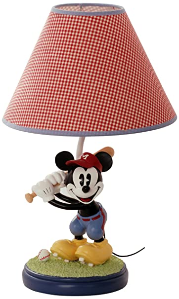 Beautiful Disney Vintage Mickey Lamp Base And Shade (Discontinued By Manufacturer)